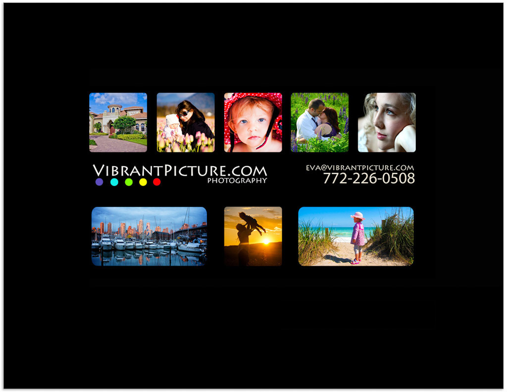 vibrant picture business card